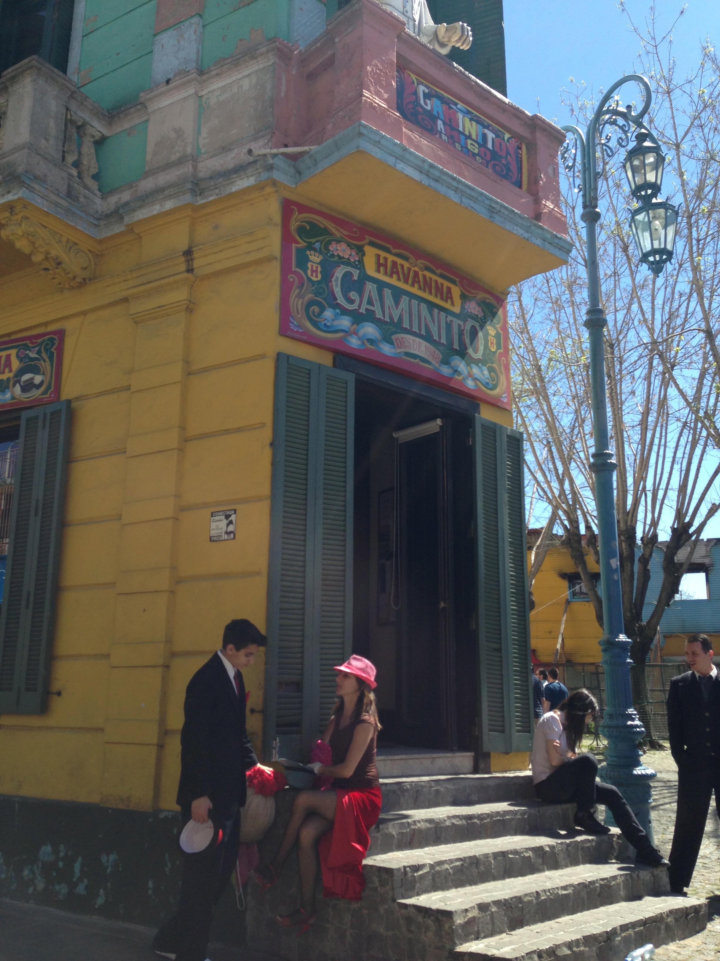 Street Tango in La Boca.