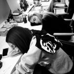 Jourdan Dunn and Cara Delevigne - Backstage at Burberry S/S 2-14.  Image by Senya Hearts via Tumblr.